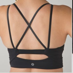 Lululemon Clip-In Long Line Bra Black Size 6